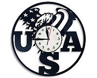 Настенные часы USA США Американский стиль, подарок фанатам, любителям, 2770