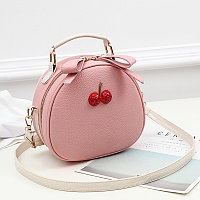 Летняя круглая женская сумочка Berry Розовый