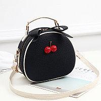 Летняя круглая женская сумочка Berry Черный