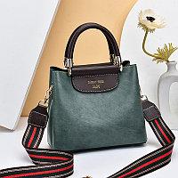 Женская сумка SADG с ярким акцентным ремешком Светло-Зеленый