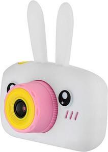 Фотоаппарат-игровая консоль детский GSMIN Fun Rabbit с силиконовым чехлом (Белая)