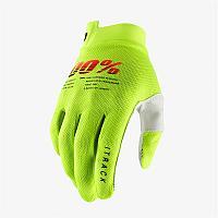 Детские перчатки 100% Мотоперчатки подростковые 100% ITrack Youth Glove Fluo Yellow
