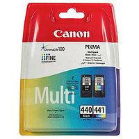 Картридж струйный Canon PG-440/CL-441 5219B005 черный/трехцветный x2уп. для Canon MG2140/MG3140 (180