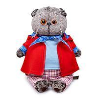 Мягкая игрушка 'Басик в красной куртке и брюках в клетку', 22 см
