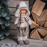 Кукла интерьерная 'Ваня в шапочке с меховой оторочкой' 28 см