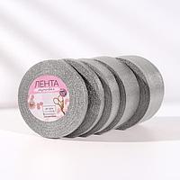 Набор парчовых лент, 5 шт, размер лент 6/10/20/40/50 мм, 23 ± 1 м, цвет серебряный