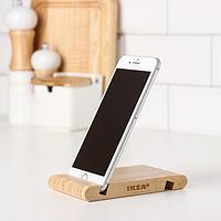 Подставка для смартфона/планшета деревянная 'БЕРГЕНЕС', бамбук