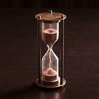 Песочные часы 'Счастье' латунь (3 мин) 5х5х12,5 см