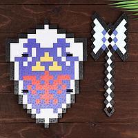 Набор деревянных сувениров 'Бриллиантовое оружие' щит, меч