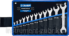 Набор рожковых гаечных ключей 12 шт, 6 - 32 мм, ЗУБР