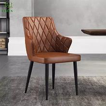 Кожанный обеденный стул
