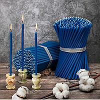 Восковые свечи Васильковые цена от 47тенге за 1 шт. Высота свечи 265мм