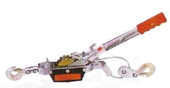 Лебедка ручная рычажная гаражная QSS 2т 2,4 м, фото 2