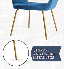 Современный бархатный стул, фото 3