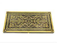Нарды Орнамент чёрные золото большие 60 см