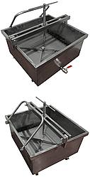 Пресс-тележка ИПКС-025-02(Н), объем 240 л, механический привод