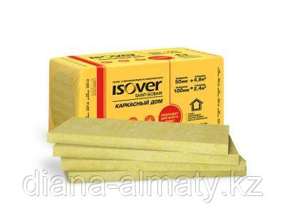 Мин плита ISOVER Мастер тёплых крыш 50*600*1000 (4,8м2=0,24м3) 8 шт/уп тел. whats up +7(707) 570 51511
