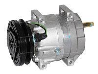 Компрессор кондиционера QSM11 для экскаватора Hyundai R520LC-9.