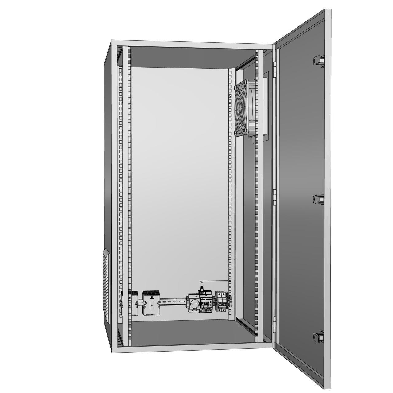 Шкаф климатический утеплённый с обогревом и вентиляцией ЩКу- ОВ- 02 - 500×400×200 (В×Ш×Г) IP65