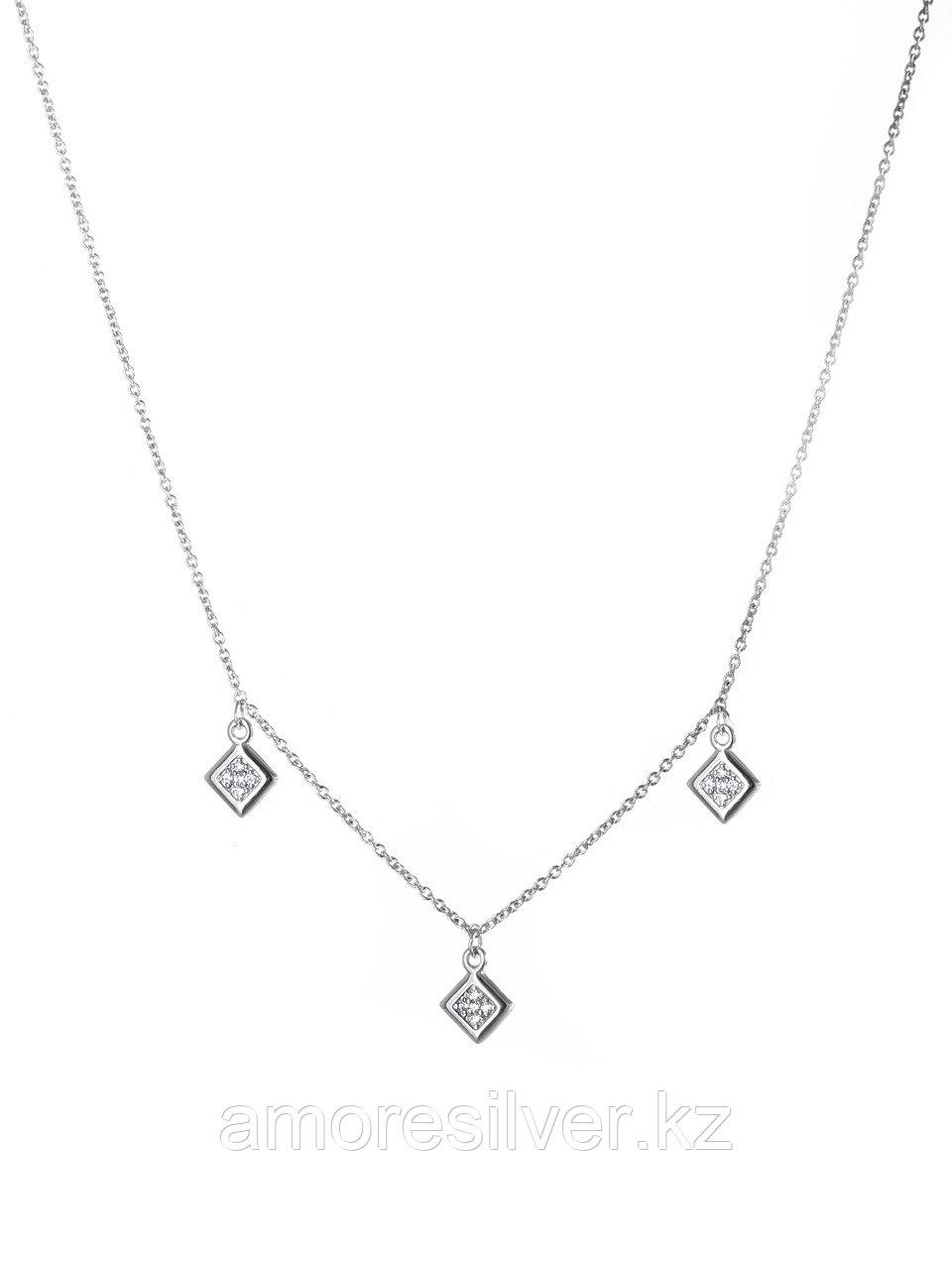 Колье Адамант серебро с родием, фианит Ср925Р-870903040 размеры - 40