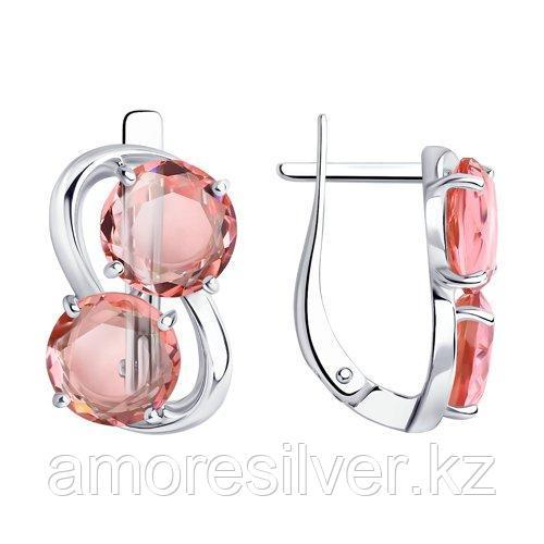 Серьги DIAMANT ( SOKOLOV ) серебро с родием, стекло  94-120-01199-2