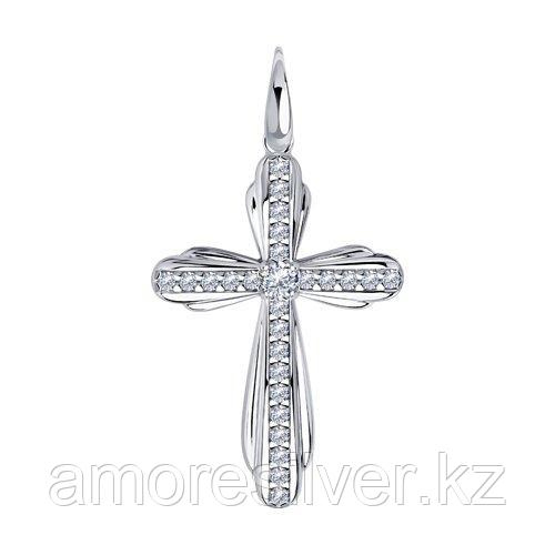 Подвеска DIAMANT ( SOKOLOV ) серебро с родием, фианит  94-130-01315-1