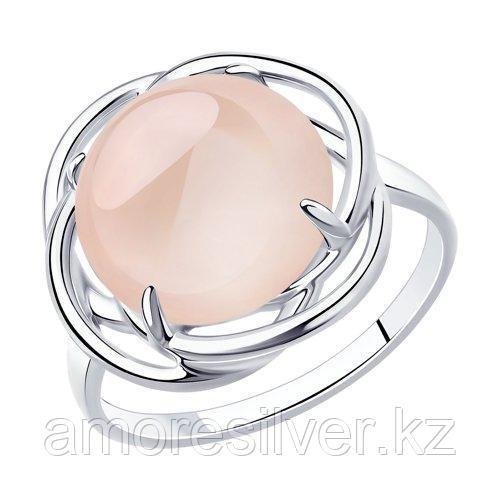 Кольцо DIAMANT ( SOKOLOV ) из черненного серебра, кварц 94-310-00959-1 размеры - 17,5 18