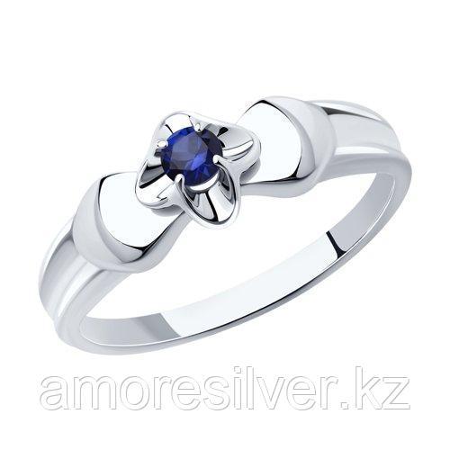 Кольцо DIAMANT ( SOKOLOV ) из черненного серебра, корунд синт. 94-310-00974-1 размеры - 17,5 18 18,5