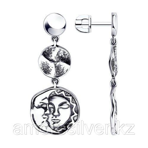 Серьги DIAMANT ( SOKOLOV ) из черненного серебра 95-122-01209-1
