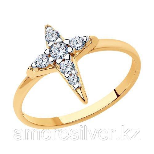 Кольцо SOKOLOV серебро с родием, фианит  93010930 размеры - 16 17 17,5 18 18,5 19