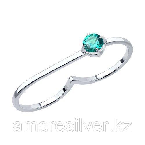 Кольцо SOKOLOV серебро с родием, турмалин синт. 92012028 размеры - 17