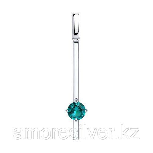 Подвеска SOKOLOV серебро с родием, турмалин синт. 92030689