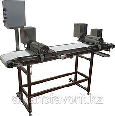 Устройство нарезки (для рыбы, с модульной лентой, два блока ножей) ИПКС-074-01-125-2Ч(Н), произв. 1200 кг/ч