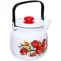 Чайник эмалированный Ласковый май, 3,5 литра