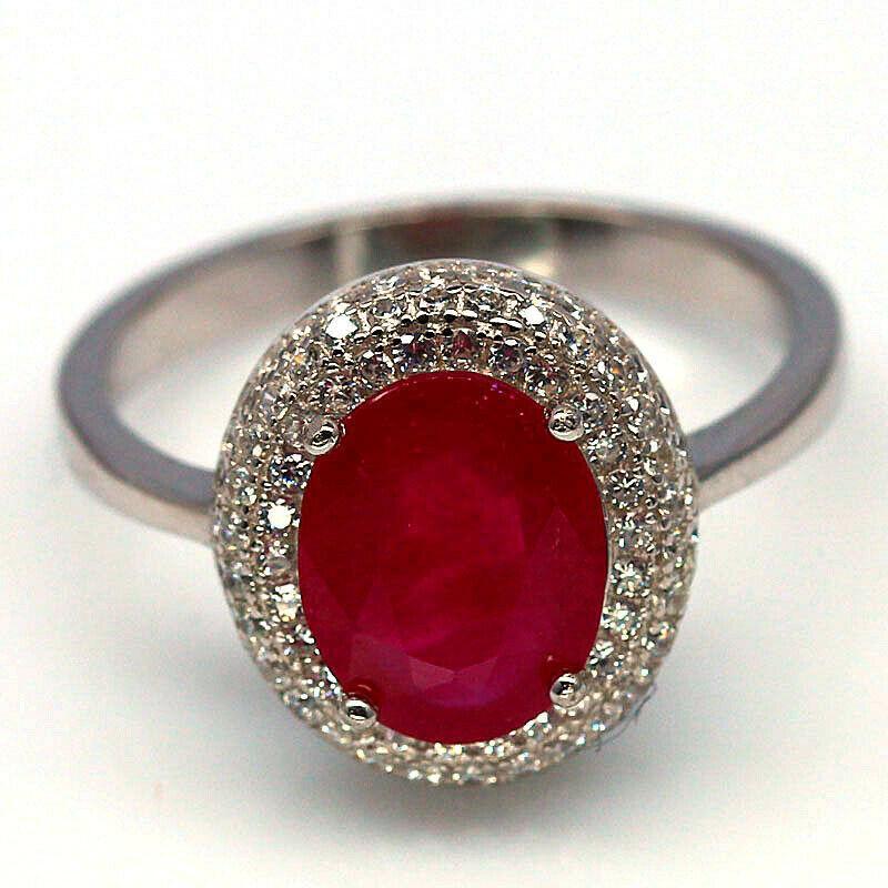 Кольцо с роскошным Рубином 10 мм (комплект)