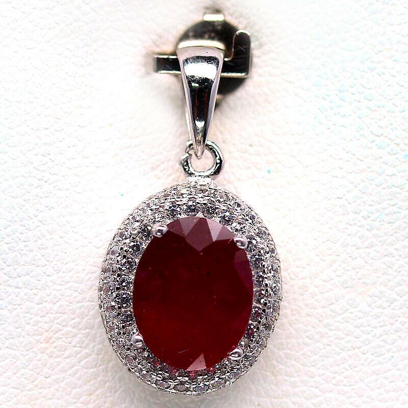 Кулон с роскошным Рубином 10 мм