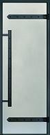 Дверь Harvia с алюминиевой коробкой Legend 9х19 (стекло сатин, артикул DA91905L)