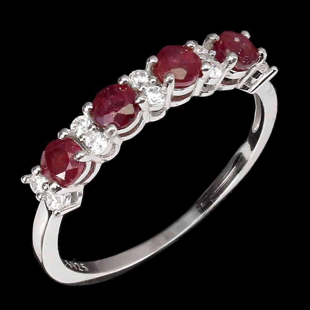 Кольцо с Рубинами и Топазами
