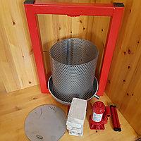 Пресс для отжима сока домкратный 3 тонны. Объем корзины 13 литров.