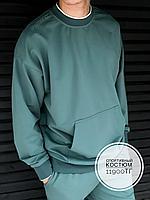 Спортивный костюм Sports (свитшот) фисташковый 0080, фото 1