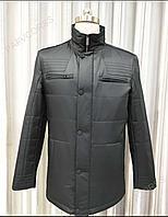 Мужская куртка прямая черная размер 48
