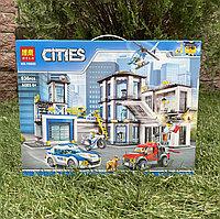 Конструктор Bela Cities 10660 Полицейский участок аналог Лего Полицейский участок 10