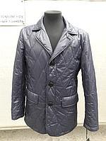 Мужская куртка-пиджак черно-серая