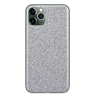 Текстурные скины для защиты корпуса телефона Devia silver-brillo