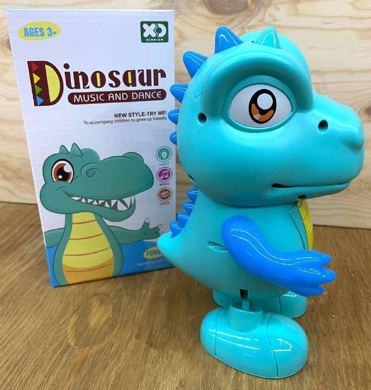 17188 Динозавр на батарейках ходит свет,муз 22*11см