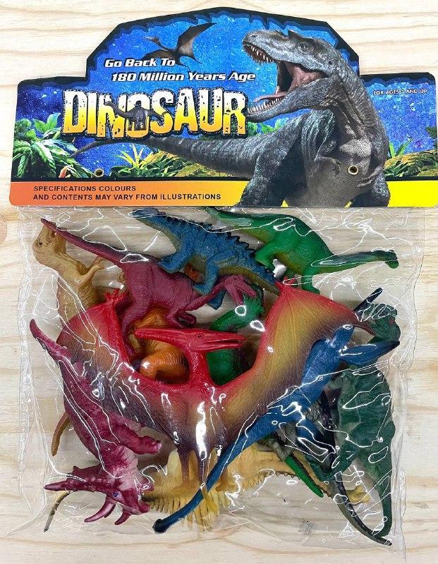9618-10 Динозавры фигурки 12шт в пакете 28*23см