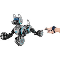 Собака-перевертыш робот с пультом в виде наручных часов 666-800А серый