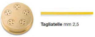 НАСАДКА-ЭКСТРУДЕР Д/CHEF-IN-CASA TAGLIATELLE 2,5 MM 289