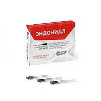 Эндодонтические иглы для антисептической обработки корневых каналов зубов, одноразовые стерильные, 0,4 мм х 35