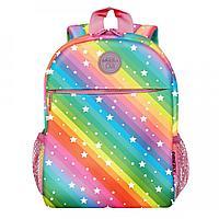 Рюкзак детский Grizzly, 22*28*10см, 1 отделение, 3 кармана, мягкая спинка, радуга